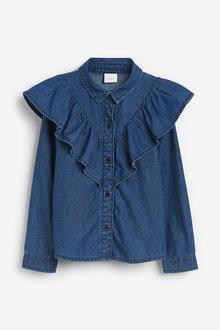Next Denim Frill Shirt - 280206