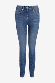 Next Mid Blue Forever Soft Skinny Jeans - 280208
