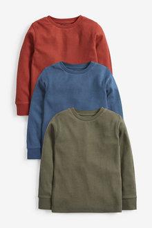 Next Multi 3 Pack Cosy Eyelet T-Shirts - 280230