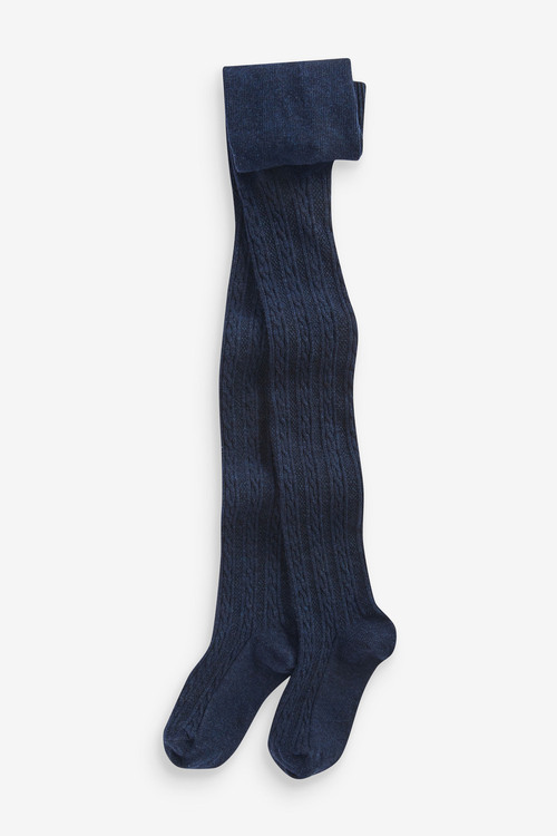 Next Navy Cable Tights (3mth-7yrs)