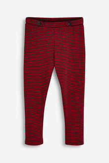 Next Red Check Ponte Trousers - 280243