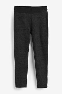 Black Marl Sports Leggings - 280263
