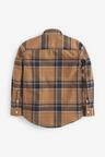 Next Neutral Long Sleeve Check Oxford Shirt (5-16yrs)