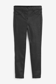 Black Coated Jeggings - 280281