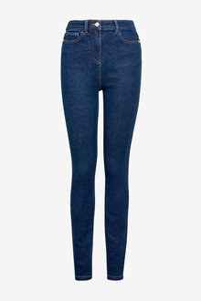 Dark Blue High Rise Skinny Jeans - 280282