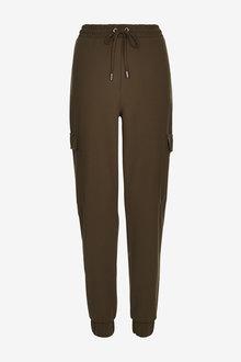 Khaki Jersey Cargo Trousers - 280290