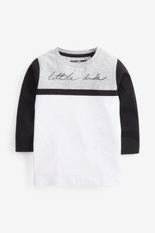 Grey Long Sleeve Jersey Colourblock T-Shirt - 280308