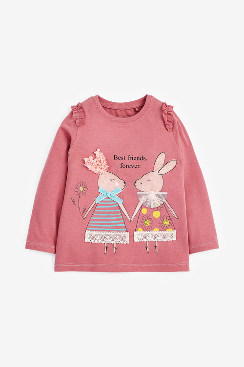 Next Pink Bunny T-Shirt (3mths-7yrs)