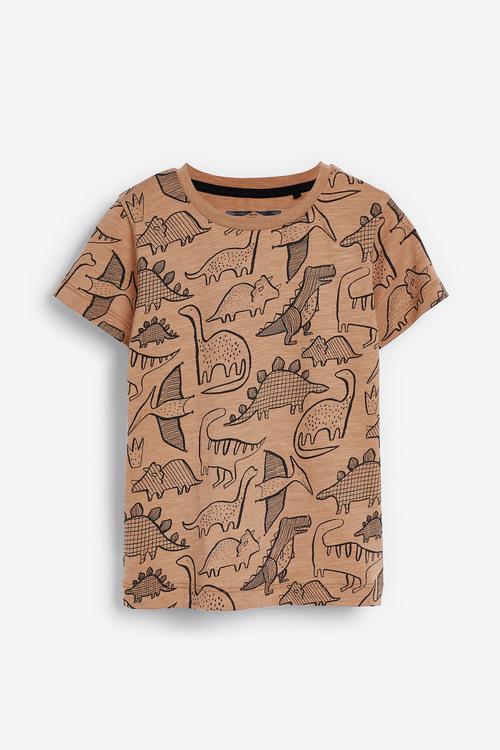 Next Multi 3 Pack Dino T-Shirts (3mths-7yrs)