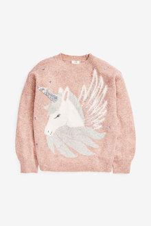 Pink Sequin Unicorn Jumper - 280324