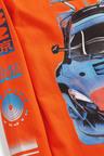 Orange Long Sleeve Car Graphic T-Shirt