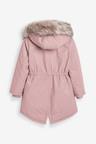 Next Pink Faux Fur Trimmed Shower Resistant Parka (5-16yrs)