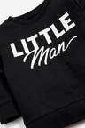 Black Lightweight Little Man Crew Neck Top