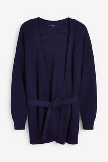Navy Belted Cardigan - 280346