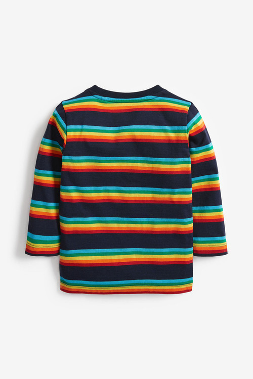 Multi Long Sleeve Rainbow Stripe T-Shirt
