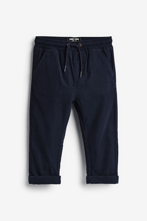 Navy Pull-On Cord Trousers