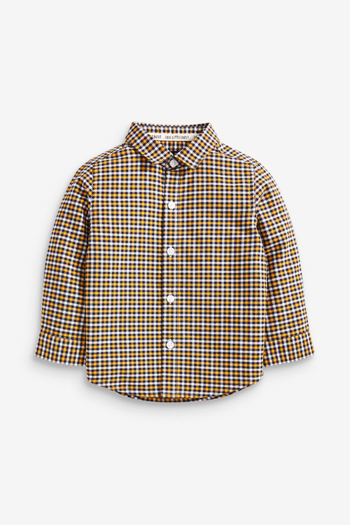 Yellow Long Sleeve Oxford Shirt