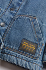 Denim Blue Borg Lined Jacket