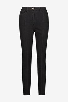 Black Sparkle Button High Waist Authentic Skinny Jeans - 280467