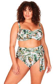 Artesands Viva La Eden Green Botticelli Bandeau Bikini Top - 280503