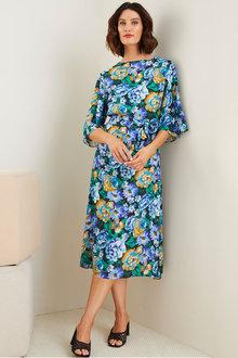 Grace Hill High Neck Midi Dress - 280514