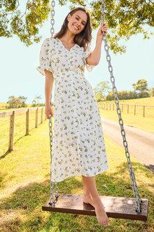Emerge Printed Midi Dress - 280889