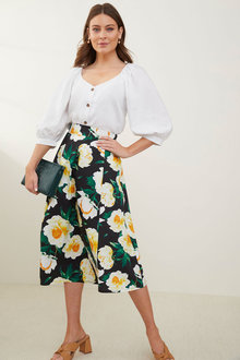 Grace Hill Poplin Printed Skirt - 280924