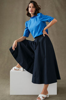 Grace Hill Pull on Cropped Culotte - 280932
