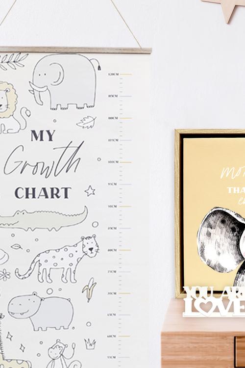 Splosh Baby Animal Growth Chart