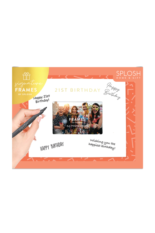 Splosh 21st Birthday Signature Frame
