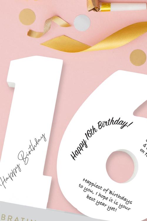 Splosh 16th Birthday Signature Number