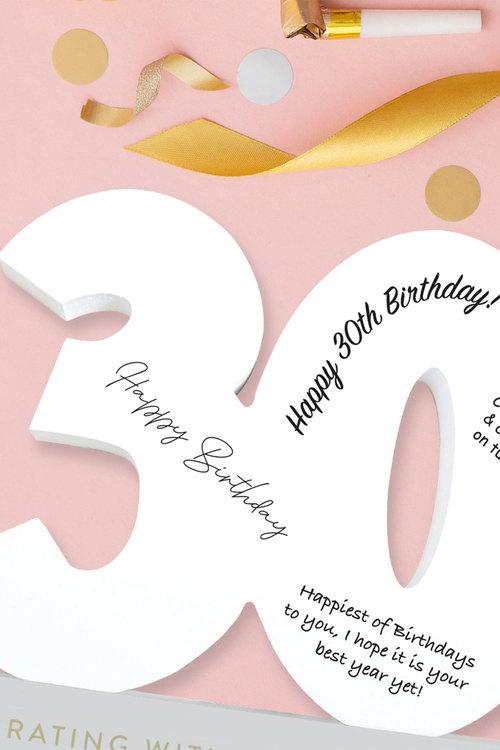 Splosh 30th Birthday Signature Number