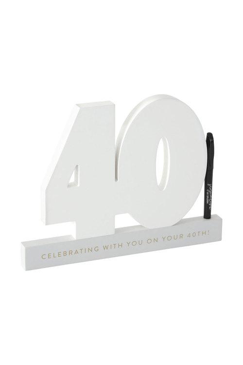 Splosh 40th Birthday Signature Number