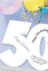 Splosh 50th Birthday Signature Number