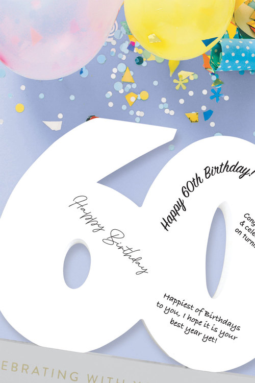 Splosh 60th Birthday Signature Number