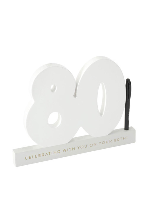 Splosh 80th Birthday Signature Number