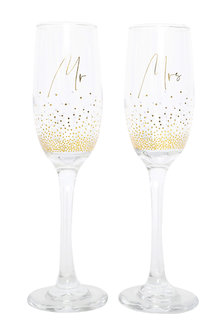 Splosh Wedding Mr & Mrs Champagne Flute Set - 281339