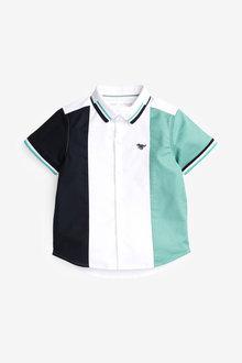 Next Short Sleeve Colourblock Shirt (3mths-7yrs) - 281347