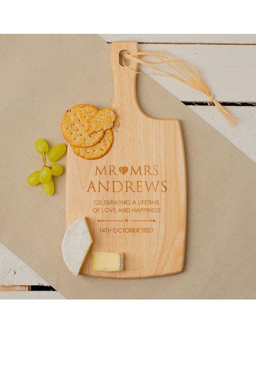 Personalised Engraved Mr Loves Mrs Serving Board