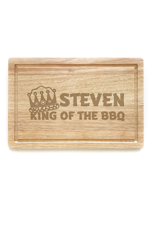 Personalised King Of The BBQ Chopping Board