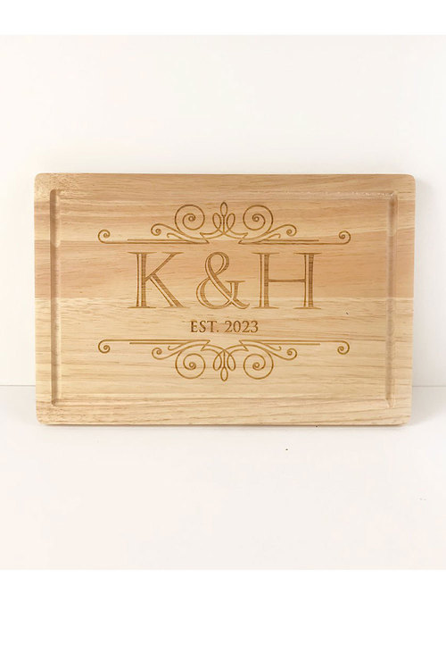Personalised Engraved Initials Chopping Board
