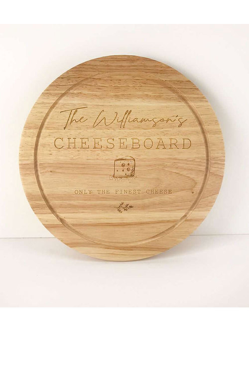 Personalised Only the Finest Circular Cheeseboard