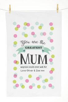 Personalised Greatest Tea Towel - 281397
