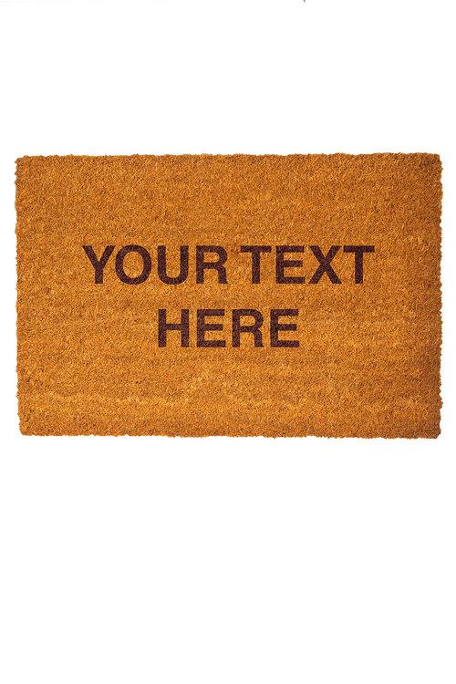 Personalised Custom Message Coir Doormat