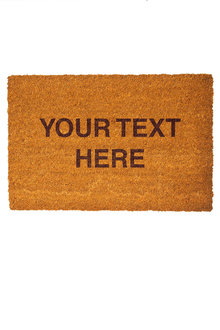 Personalised Custom Message Coir Doormat - 281399