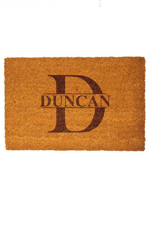 Personalised Monogram Name Coir Doormat