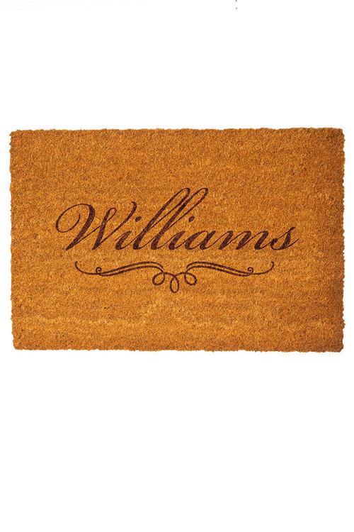 Personalised Classic Name Coir Doormat