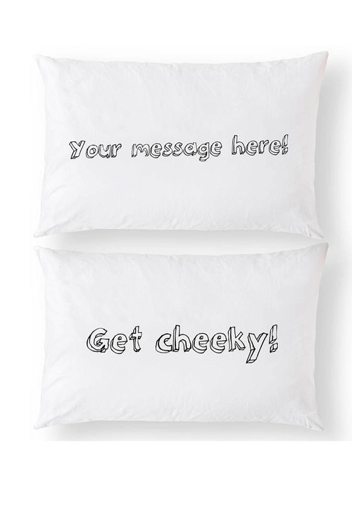 Personalised Custom Message Pillowcase Set