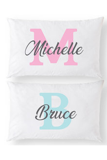 Personalised Monogram Name Pillowcase Set - 281404