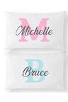 Personalised Monogram Name Pillowcase Set